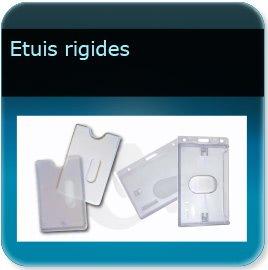 Badge plastique personnalisé Porte badge étuis rigide pour badge épaisseur 0,5 ou 0,76mm