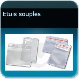 Badge plastique personnalisé Porte badge souple pour badge épaisseur 0,5 ou 0,76mm