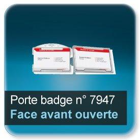 Badge Porte-badge transparent à face avant ouvert pour badge 86x54mm épaisseur 0,5 ou 0,76mm n7947