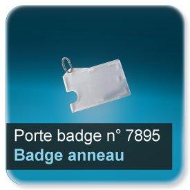 Badge Etuis plastique transparent à anneau pour badge 86x54mm épaisseur 0,5 ou 0,76mm n7895