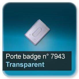 Badge Etuis plastique transparent pour badge 86x54mm épaisseur 0,5 ou 0,76mm n7943
