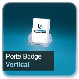 Badge Porte badge vertical pour badge 86x54mm n9210