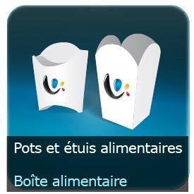 Emballage (Coffret, Boîte, carton, colis et etuis) Etuit, Pot, barquette vertical Alimentaire carton personnalisé 360g Delipac (Résistant aux huiles, recyclable, compostable et biodégradable)