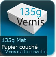 Flyers 135g couché mat + vernis machine invisible