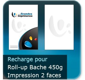 Kakémono / roll up Recharge bache seul 85x200cm pour roll-up BACHE - Impression couleur 2 face