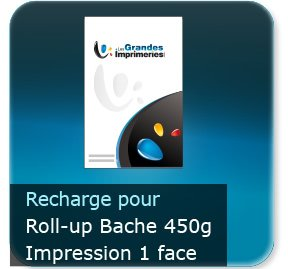 Kakémono / roll up Recharge bache seul 85x200cm pour roll-up BACHE - Impression couleur 1 face