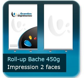 Kakémono / roll up Roll-up bache 450g - Impression couleur 2 faces