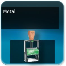 Tampon personnalisé métal et manche en bois